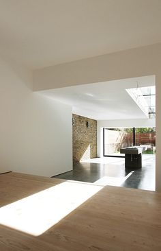 Luxury Minimalist Interior , Dinesen Flooring, Concrete Flooring, Queens Park London , LBMVarchitects