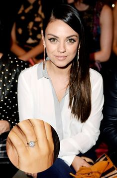 Mila Kunis's engagement ring