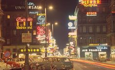Vintage Vienna. Innere Stadt 1010 Wien Austria. Air France, Radios, French Photographers, Vintage Photography, Vienna, Austria, Vintage Photos, Signage, Times Square