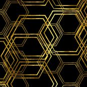 Hexagold Black by beththompsonart