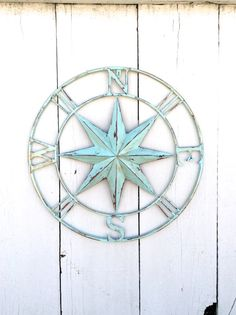 Nautical Compass Wall Art Nautical Decor Nautical by honeywoodhome