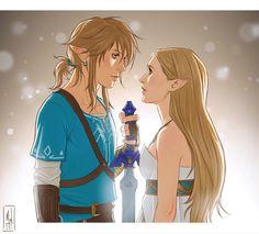 Link and Zelda Drawing