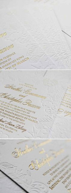 Black Tie Reinvented Wedding Invitations. Soft white acrylic brushstrokes on bright white double thick stock.