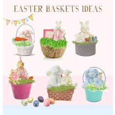 Easter Baskets Ideas With Bunnies By The Bay!