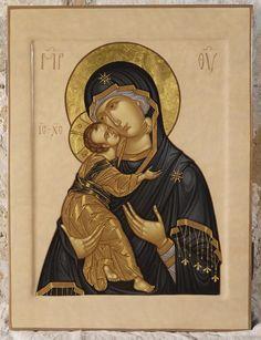 Byzantine Icons, Byzantine Art, Religious Icons, Religious Art, Religion Catolica, Best Icons, Russian Orthodox, Madonna And Child, Art Icon