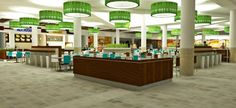 A rendering of the planned food court.