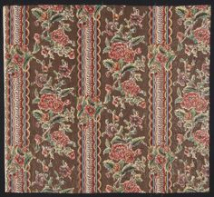 Place of Origin: England, United Kingdom, Europe  Date: 1815-1820  Materials: Cotton  Techniques: Woven (plain), Block printed, Mordant style