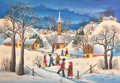 Mariana Mihut, Le jour de Noël*   Art naif   Pinterest