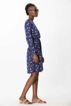 Aburi Dress in Cobalt Jot
