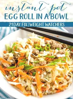 27 Amazing Weight Watchers Instant Pot Recipes to Make! 27 Amazing Weight Watchers Instant Pot Recipes to Make! Day Fix 27 Amazing Weight Watchers Instant Pot Recipes to. Plats Weight Watchers, Weight Watchers Meals, Weight Watchers Appetizers, Clean Eating, Healthy Eating, Healthy Food, Crockpot, Eggroll In A Bowl, Rib Recipes