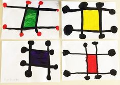 A la manière de Miro Joan Miro, Ecole Art, Art Abstrait, Legos, Kids Rugs, Shapes, School, Grid, Projects