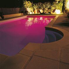 filtres colorés piscine x3 #idée #cadeau #gift #papa #homme #FêteDesPères #jardin #déco #piscine #original #lumière #projecteur #filtre #coloré #desjoyaux #laboutiquedesjoyaux