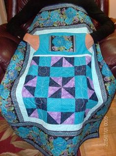 Nursing home lap quilt from http://www.homesewnbycarolyn.com
