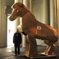 Image result for cardboard box horse