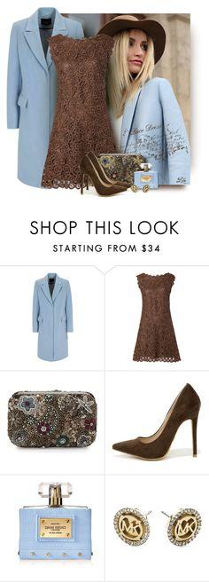"""Pretty Lace Dress"" by fashion-architect-style ❤ liked on Polyvore featuring moda, Oui, Alice + Olivia, Shoe Republic LA, Versace e Michael Kors"