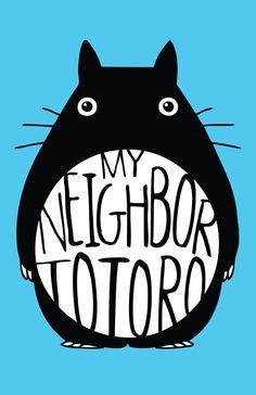 Hayao Miyazaki My Neighbor Totoro {Tonari no Totoro} Film Poster Design, Movie Poster Art, Art Posters, Film Posters, Totoro Poster, Bedroom Wall Collage, Pop Culture Art, My Neighbor Totoro, Hayao Miyazaki