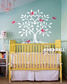 Heart Tree  vinyl sticker wall decal  KK102 by KinkyWall on Etsy, $55.00