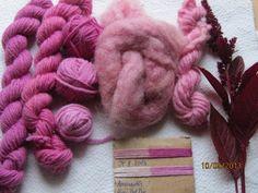 .......Rosendame macht was: Pink mit Amaranth Hopi Red Dye- Resultate