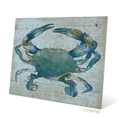 Found it at Wayfair - Crab Graphic Art Canvas Plaque