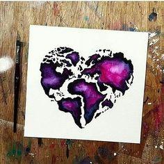 Amazing world map! Where do you come from? _ Artwork by @danielle_foye _ Follow @artistic_island & @artistic_discover for more! _ #artistic_dome #artoftheday #artstagram #pencil #artist #art #worldofpencils #artistic_discover #artistic_island #galaxy #sky #painting #heart #world