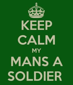 well technically mine isn't a 'soldier' he is a Seabee but for all you Army s.o. followers this is for you =]