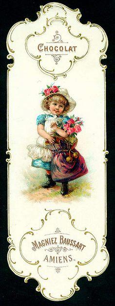 Baussart Chocolat♥ - Bookmark c1890s