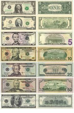 the new currency change. Fake Money Printable, Money Template, Rare Coins Worth Money, Valuable Coins, Money Worksheets, Money Notes, Dollar Money, Coin Collecting, Presidents On Dollar Bills