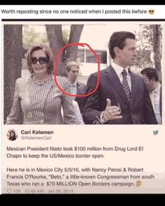 Democrat Party, funded by narco dollars and human traffickers. Political Topics, Political Corruption, Political Quotes, Political Views, Political Cartoons, Liberal Hypocrisy, Liberal Logic, Politicians, Liberal Tears