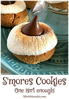 S'mores Cookies Recipe - Life With Lorelai. Turn the famous summer treat into a cookie you can't resist. One isn't enough. #Recipe #Smores #Cookies #Summer