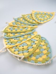 learn crochet and make this bunting.