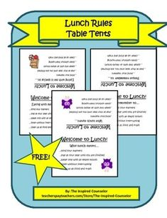 FREE Lunch Rules Table Tents First Grade- Social Studies- Government Strand- Civic Participation and Skills- Individuals are accountable for their actions This is something I would have the students cut and fold and put in the cafeteria (after discussion about it) in order to learn about responsibility and how every one needs to be responsible. Being Responsible: A Book about Responsibility- By Mary Small