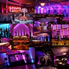 Easiest way to create a mood for your wedding - UP LIGHTING! Luckily our DJ also provides this. It will be beautiful!