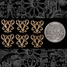 Antique Brass Ornate Filigree Heart Connectors by ChasingTheSpark, $2.79