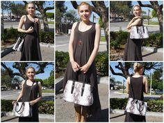 Diophy Snake Skin Pattern Tote Womens Purse Handbag SW-3107 Black: Handbags: Amazon.com