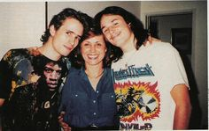 Jeff Buckley with his mum and brother Corey.