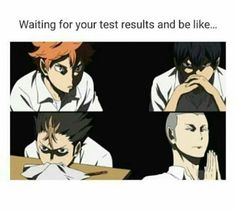 haikyuu, pass the test or you can't join competition