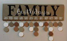 Birthday Calendar Family Birthday Board by JackiesCraftShop, $40.00
