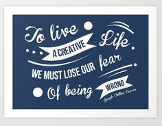 Without Fear Quotation Art Print ==