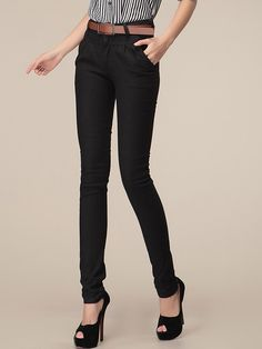 Ladylike  Blended  Casual-pant Casual Pants from stylishplus.com