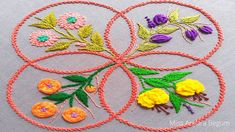 Hand Embroidery Flower Designs, Hand Embroidery Videos, Hand Embroidery Tutorial, Different Flowers, The Creator, Colorful, Stitch, Youtube, Pattern