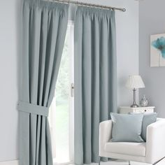 Duck Egg Solar Blackout Curtain Collection | Dunelm from £25