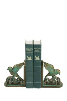 Chastain Blue/Gold Bookends - Set of 2