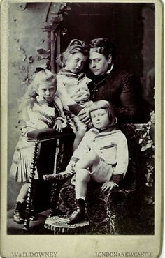 Mary with her mother and brothers.