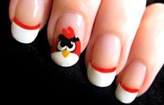 Diseños de uñas para niñas, diseño de uñas para niñas angry birds.  Join to CLUB! #diseñouñas #instanails #uñasconbrillos