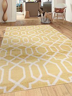 "Contemporary Trellis Design Yellow Soft 3'3"" x 5' Indoor Area Rug Rugshop http://www.amazon.com/dp/B0168Y1P28/ref=cm_sw_r_pi_dp_Qf-dxb1SKJ1GY"