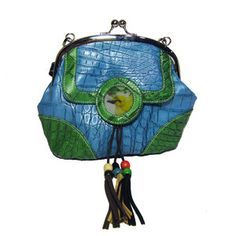 Bird Shoulder Bag Blue Green, $35, now featured on Fab.  I have a top that would go SO CUTE with this bag...except for the bird and the beads.