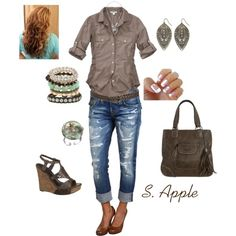 Tan and Brown, created by sapple324 on Polyvore