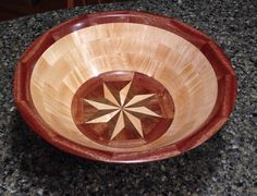 Compass Rose segmented bowl from Groves Woodworks