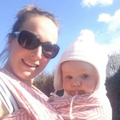The #selfie you dream about! #babywearing and your #baby vomits on your shoes mid-photo! #Wovenwings #iamawinglet #fail