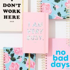 ban.do 17-month classic agenda - I am very busy, ban.do pink/holographic